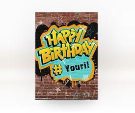 kaart verjaardag tiener jongen