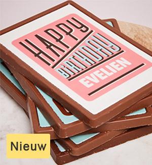 chocolade kaarten beeld