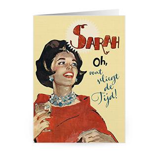 kaart verjaardag sarah