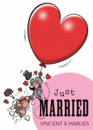 Funny Mail kaart - funny-mail-just-married