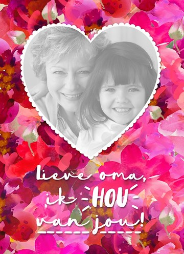Moederdag fotokaart - moederdag-kaart-om-te-vertellen-dat-je-van-haar-houd