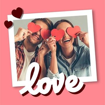 valentijnskaart - love-on-the-wall