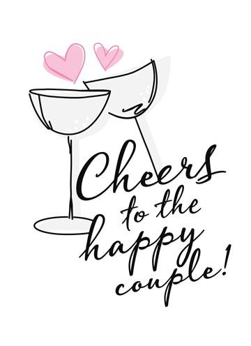 Huwelijkskaart - to-the-happy-couple