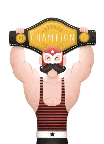 succes goed gedaan kaart - bodybuilder