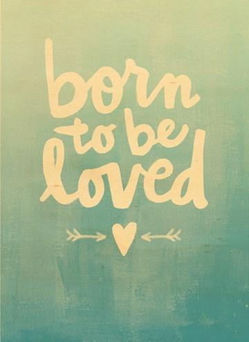 Geboortekaartje - houten-kaart-jongen-zoon-born-to-be-loved