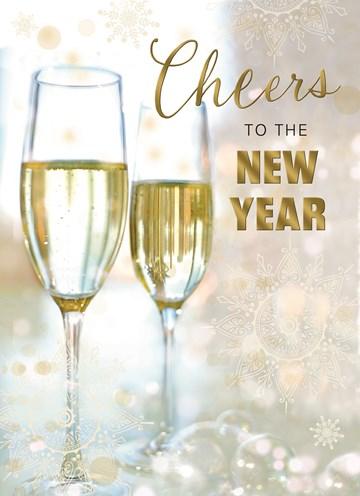 Zakelijke nieuwjaarskaart - nieuwjaar-zakelijk-cheers-to-the-new-year