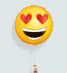 Ballon Emoji Smiley Verliefd