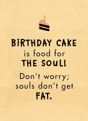 verjaardagskaart man - houten-kaart-birthday-cake-is-food-for-the-soul