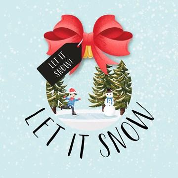 - halmark-kerstkaart-let-it-snow-in-de-snowglobe