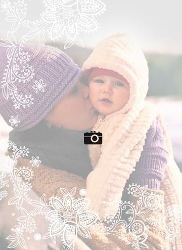 Winterkaart - fotokaart-blanco-wit-omkader