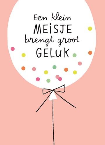 Geboortekaartje - ballon-met-confetti