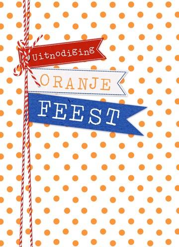 Koningsdag kaart - uitnodiging-oranje-feest