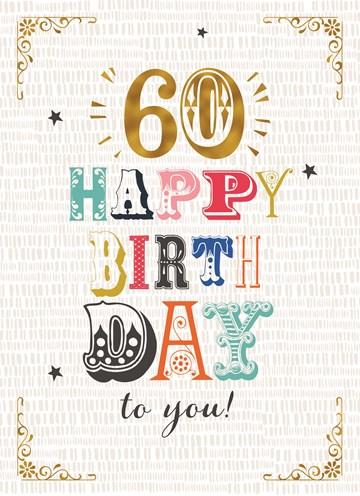 Verbazingwekkend Kaarten Verjaardag leeftijden - 60 | Hallmark AP-98
