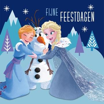 Disney kaart - fijne-feestdagen-met-anna-en-elsa