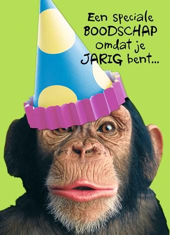 verjaardag man aap