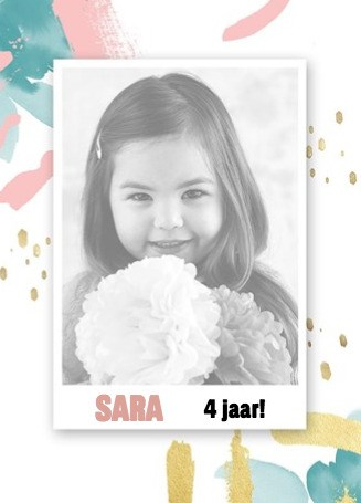 verjaardagskaart meisjes - fotokaart-splashes