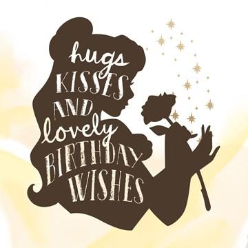 verjaardagskaart vrouw - disney-hugs-kisses-wishes