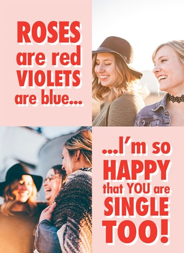 valentijnskaart - valentijnskaart-foto-i-am-so-happy-you-are-single-too