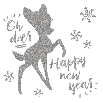 Disney kaart - disney-adult-nieuwjaar-oh-deer-happy-new-year-bambi