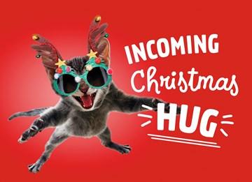 - Kerstkaart-Grappig-Incoming-Christmas-hug