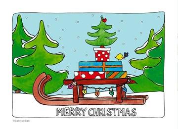 - slee-in-de-sneeuw-met-cadeaus