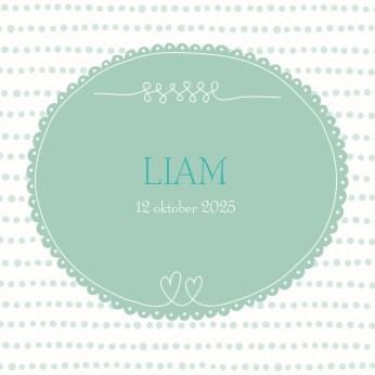 - geboorte-kaartje-jongen-groene-cirkel