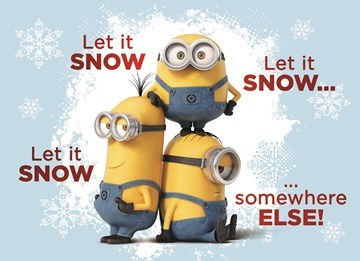 - kerst-minions-let-it-snow