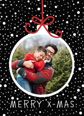 - kerstkaart-fotokaart-kerstbal-frame