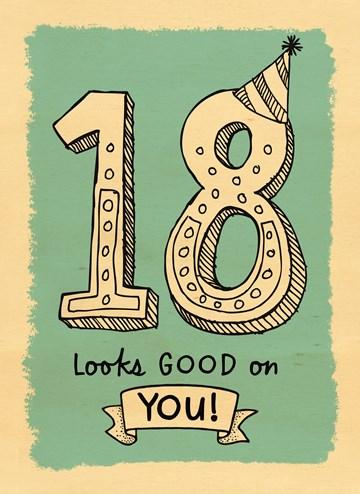 Verjaardagskaart leeftijden - houten-kaart-18-jaar-staat-je-goed-man