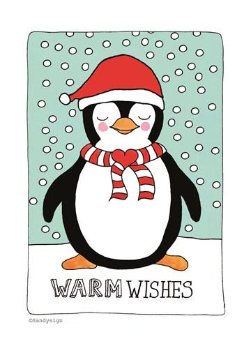- Sandysign-kerstkaart-warm-wishes