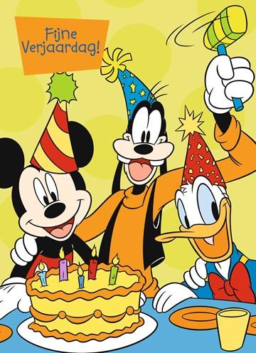 verjaardagskaart jongen - fijne-verjaardag-van-mickey-goofy-en-donald
