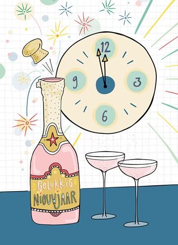 - nieuwjaarskaart-funny-side-up-champagne-middernacht