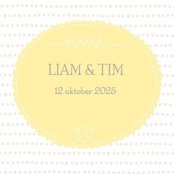 - tweeling-kaartje-geboorte-geel