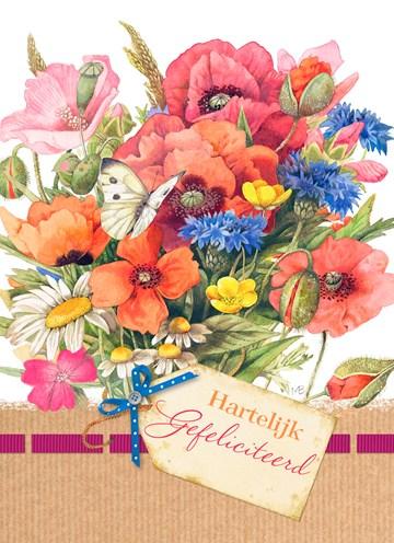 - boeket-met-kaartje-hartelijk-gefeliciteerd