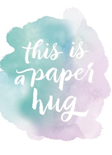 Liefde kaart - Vriendschapskaart - watercolor-this-is-a-paper-hug