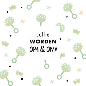 - kaart-voor-opa-en-oma-met-groene-rammelaar-en-kleine-vlinders