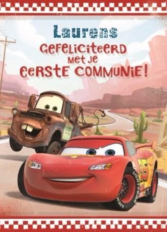 - supersnelle-cars-kaart-met-lightning-mcqueen-en-mater-voor-eerste-communie