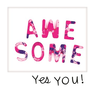 - polaroid-kaart-awesome-yes-you