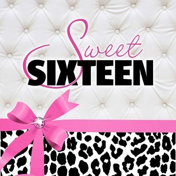Verjaardagskaart leeftijden - sweet-sixteen-roze-strik