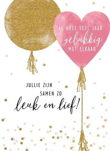 Huwelijkskaart - Trouwdagkaart-Jullie-zijn-samen-zo-leuk-en-lief