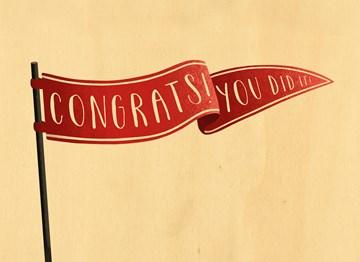 succes goed gedaan kaart - congrats-you-did-it