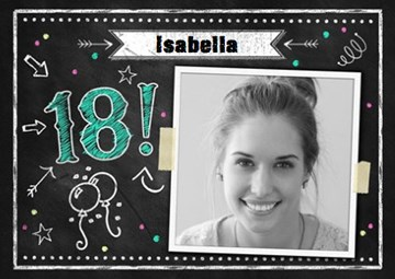 Verjaardagskaart meiden - Verjaardag-18-jaar