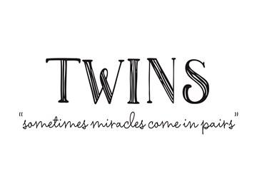 Geboortekaartje - twins-sometimes-miracles-come-in-pairs