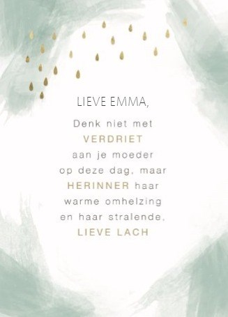 Gedicht Verjaardag Overleden Moeder.Moederdagkaarten Als Ze Er Niet Meer Is Leef Mee Hallmark