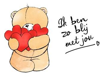 Valentijnskaart - valentijnskaart-Forever-Friends-Ik-ben-zo-blij-met-jou