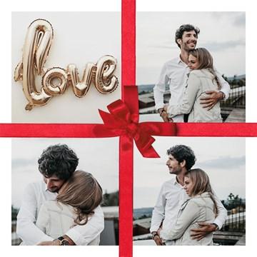 valentijnskaart - valentijnskaart-strik-met-4-fotos