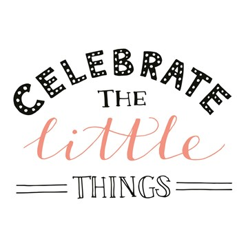Felicitatiekaart - text-it-kaart-celebrate-the-little-things