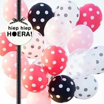 verjaardagskaart vrouw - tros-ballonnen-hiep-hiep-hoera
