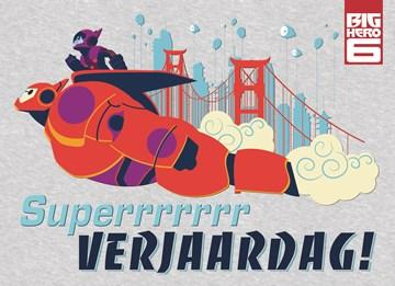 Disney kaart - super-held-big-hero-verjaardag-jarige-harte-gefeliciteerd-naam-super