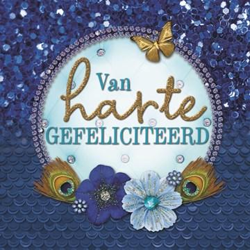 Felicitatiekaart - la-mystique-van-harte-gefeliciteerd-blauw